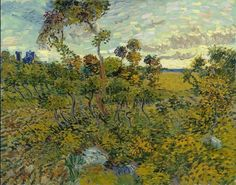 """A major new painting by Vincent van Gogh has been discovered after it spent decades locked away in an attic, suspected to be a fake. """"Sunset at Montmajour"""" was painted by Vincent van Gogh in Researchers authenticated the painting in Vincent Van Gogh, Desenhos Van Gogh, Van Gogh Arte, Van Gogh Pinturas, Catalogue Raisonne, Art Van, Van Gogh Paintings, Canvas Paintings, Pierre Auguste Renoir"""