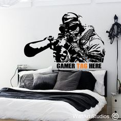 Call of Duty Gamer Tag, sticker, wall art, decal