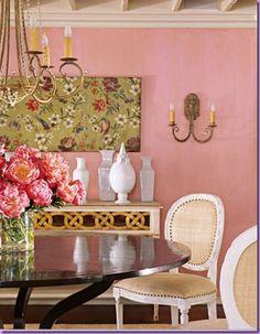 Pink Dining Room By Designer Suzanne Kasler