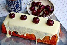 Kirsch - Joghurt Kuchen mit weißer Schokolade