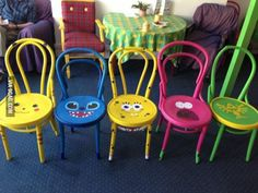 My mate made some chairs! I can't decide which is my favourite!