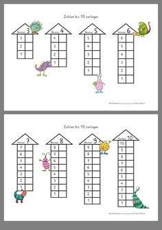 Kindergarten Math Worksheets, Preschool Math, Educational Activities, Math Activities, Teaching Kids, Kids Learning, Math Drills, 1st Grade Math, Math For Kids