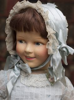 50 см Редкая французская харктерная кукла модель Ширли Темпл - VENUS,1930е годы - на сайте антикварных кукол.