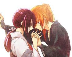 Kenshin x Tomoe Kenshin Anime, Rurouni Kenshin, Kenshin Le Vagabond, Samurai, Takeru Sato, Manga Love, Tomoe, Manga Anime, Anime Boys