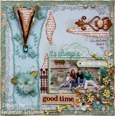 Scrapbook page made by Websters Pages design team member Gabrielle Pollacco using the NEW Best Friends collection...just beautiful!!