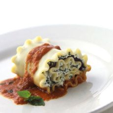 Eggplant and Spinach Lasagne Spirals