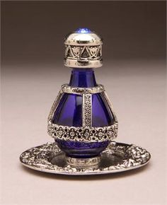 Silver- Banded Roma Tear Bottle with FREE Matching Tray - I have the bottle without the tray and have actually used it. to capture tears - Beautiful!