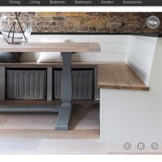 Neptune Kitchen Fitted Storage   Buckland Bench Seating With Baskets