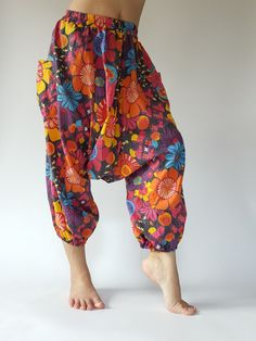 Excited to share the latest addition to my #etsy shop: HC0300 Flora soft cotton baggy unisex harem pants, perfect of yoga,Low Crotch Yoga Trousers gypsy pants,aladdin pants maxi pants boho pants #clothing #pants #rainbow #confirmation #valentinesday #yogatrousers #gypsypants #harempants #florasoftcotton