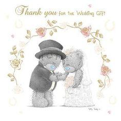 Me To You Tatty Teddy Wedding Gift Thank You Cards 10pk £4.40
