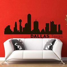 Vinyl Wall Decals Dallas Texas Skyline City Silhouette Sticker Home Decor Art Mural Z596 WisdomDecalHouse http://www.amazon.com/dp/B00PG0FLUI/ref=cm_sw_r_pi_dp_Qfryub09ZYNB8