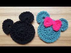 How to make Crochet Mickey Mouse Applique # Crochet Mickey & Minnie Mouse Applique # Rose Crochet & Craft For more videos get link in the below: How . Crochet Ornament Patterns, Disney Crochet Patterns, Crochet Applique Patterns Free, Crochet Coaster Pattern, Crochet Disney, Crochet Ornaments, Doll Patterns, Crochet Pig, Crochet Turtle