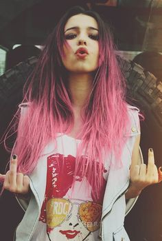 If only I could dye my hair like this for one day for fun. ugh.