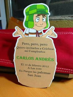Check out this item in my Etsy shop https://www.etsy.com/listing/506159159/el-chavo-del-8-birthday-invitations