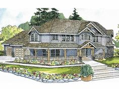 Craftsman House Plan with 3031 Square Feet and 4 Bedrooms from Dream Home Source | House Plan Code DHSW64553