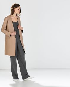 Image 1 of LAMBSKIN STUDIO COAT from Zara