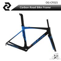 Top selling OG-EVKIN  3K Weave BB386 carbon road bike frame aero carbon bicycle frameset 49/52/4/56cm