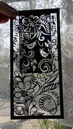 Картина, панно, рисунок Вырезание, Вырезание силуэтное, Вытынанка: Из бумаги... Бумага. Фото 5