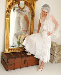 Vintage 1920's wedding dress