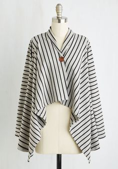 Sequel to the Occasion Cardigan. Your second date jitters become pure excitement after layering on this striped cardigan! #grey #modcloth