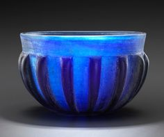 Roman Ribbed Glass Bowl, 1st Century AD The first... at Ancient & Medieval History