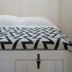 Forestry Wool Blanket | Fringe Black & White #worthynzhomeware wwworthy.co.nz