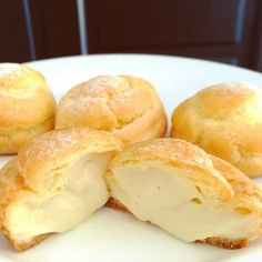 Can't get enough of these heavenly delicious mini #creampuffs #chouxcreme #pastrycream #inmykitchen #cookingwithdog  #シュークリーム