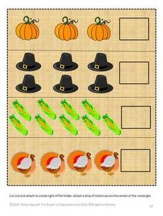 Autumn means falling leaves, cooler temperatures and Thanksgiving, a time to give thanks for all our blessings. Students love all the activities that come with the approaching holiday. You can bring some of this fun into your classroom with this Autumn -Thanksgiving Time File Folder Game packet. It contains 29 pages and makes 6 file folder games.