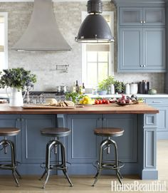 Blue Kitchen Cabinets kitchens