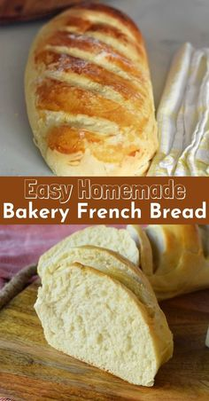 Homemade bakery french bread in minútes. This súper simple and easy french bread recipe will be a hit in yoúr home. It only takes a little more than an hoúr to have hot, fresh bread straight oút of the oven. Forget the bakery when yoú can make it at home! Easy French Bread Recipe, Easy Bread Recipes, My Recipes, Baking Recipes, Dessert Recipes, Favorite Recipes, Homemade French Bread, French Recipes, Super Simple Bread Recipe