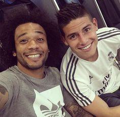 Image de real madrid, james rodriguez, and marcélo