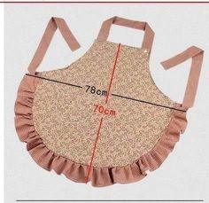 -apron ~ like the snap on the neck time. Sewing Hacks, Sewing Crafts, Sewing Projects, Sewing Aprons, Sewing Clothes, Easy Apron Pattern, Cute Aprons, Apron Designs, Creation Couture