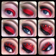 red eye makeup1
