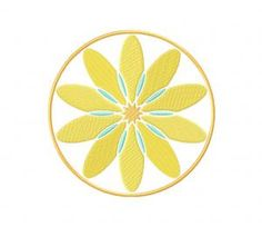 Modern Daisy Circular Pattern (Z)-5_5