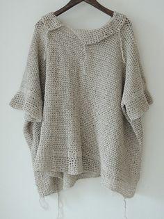 InJapan.ru — ... standard LUXE* Лён хлопок вязаный свитер *0814 — просмотр лота