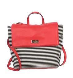 Kate Spade New York Highland Place Striped Oliver Backpack, Empire Red  (228)