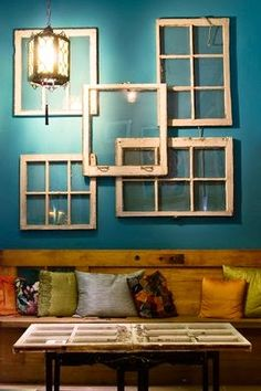 Another decorative use for old windows.