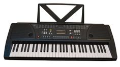 Huntington KB61 61-Key Portable Electronic Keyboard, Black:61 standard piano keys, 100 rhythms 100 voices, 16 volume levels Teaching type keyboard, 8 stereo demo songs, 32 tempo settings, A and B guides 8 panel drum presets, 8 rhythm cord volume levels, LED display Single Chord function, Finger Chord function, Transposition function Start/Stop with Sync, Fill In function, Sustain and Vibrato, 1/4-inch output jack, stereo RCA output jacks 11 new from $49.99  http://www.amazon.com