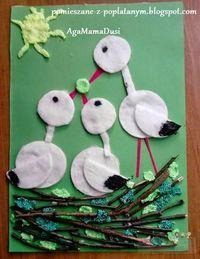 I would change birds. Spring Crafts For Kids, Paper Crafts For Kids, Summer Crafts, Preschool Crafts, Diy For Kids, Diy And Crafts, Arts And Crafts, Preschool Learning, Bird Crafts