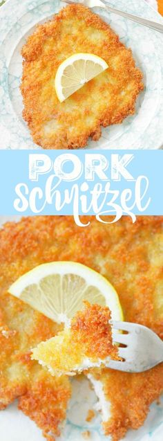 Pork Schnitzel- Worked very well. Just used pepper instead of pork seasoning, in addition to salt and paprika. Turn on one notch short of medium heat. Pork Chop Recipes, Meat Recipes, Cooking Recipes, Recipies, Pork Cutlet Recipes, Pork Meals, Pork Shnitzel Recipe, Skillet Recipes, Sausage Recipes