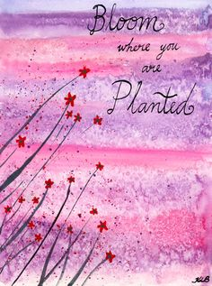 Bloom Where You are Planted - Original watercolour painting by Kirsten Bailey