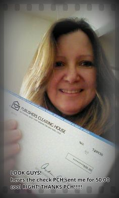 Real PCH Winner Donna O. is smiling for a reason (Smiles) Donna is also a PCH SuperFan that is in it to win it (Smiles) #NeverGiveUp