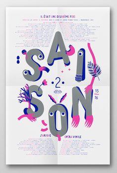 création du visuel de saison 15-16 de la compagnie théâtre pour deux mains - Pascal Vergnault : stephanie triballier / lejardingraphique.com