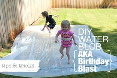 Modern Parents Messy Kids: tips for the diy water blob. Summer Activities, Toddler Activities, Projects For Kids, Diy For Kids, Backyard For Kids, Kids Yard, Backyard Ideas, Water Blob, Water Kids