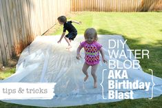 What we learned making a back yard water blob (aka water trampoline) for your little girl's 2nd b-day.  Spoiler alert: we had a blast!