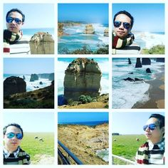 Day 4 Australia @ Melbourne  Great Ocean Road tour  sea  2 Great Blue Sky Cloud N Sea  站得高望得更高 !!  #enjoy #relax #nice #Melbourne #Australia #friends #day4 #greatoceanroad #tour #sea #sky #cloud by jet_yu_teng