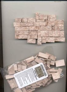 Use these proper scale rock/tile things to make a model horse jump!  Cut Stone Veneer Brown AM0724 1/12 scale model building cast plaster resin