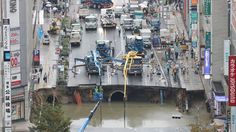 11/28/2016 - A giant sinkhole that was hastily repaired in Japan earlier this month is showing signs of movement.