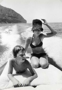 Romy Schneider and her son David, circa 1977