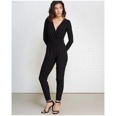 4e05112b033 Contempo Casuals™ Long Sleeve Jumpsuit ( 33) ❤ liked on Polyvore featuring  jumpsuits